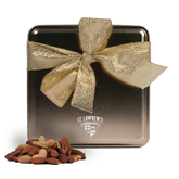 Deluxe Nut Medley Gold Medium Tin-Saints Shield Engraved