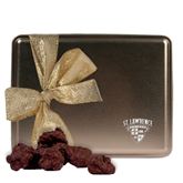 Decadent Chocolate Clusters Gold Large Tin-Saints Shield Engraved