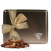 Deluxe Nut Medley Gold Large Tin-Saints Shield Engraved