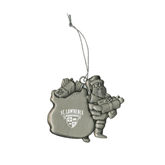 Pewter Santa Ornament-Saints Shield Engraved