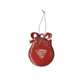 Red Bulb Ornament-Saints Shield Engraved