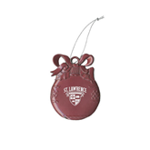 Pink Bulb Ornament-Saints Shield Engraved