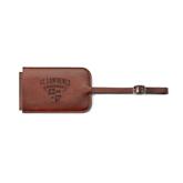 Fabrizio Brown Luggage Tag-Saints Shield Engraved