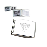 Silver Bifold Frame w/Calendar-Saints Shield Engraved