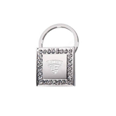 Crystal Studded Square Key Holder-Saints Shield Engraved