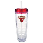 Tritan Double Wall Tumbler w/Red Top 26oz-Saints Shield
