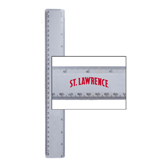12 Inch White Plastic Ruler-Arched St. Lawrence