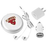 3 in 1 White Audio Travel Kit-Saints Shield