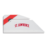 Angled Red Stripe Letter Opener-Arched St. Lawrence