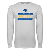 White Long Sleeve T Shirt-Class Of - Banners, Personalized year