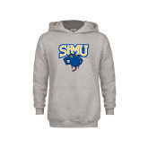 Youth Grey Fleece Hood-StMU with Rattler
