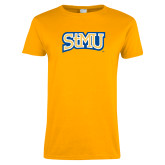 Ladies Gold T Shirt-Arched StMU