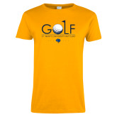 Ladies Gold T Shirt-St. Marys Gold Stacked
