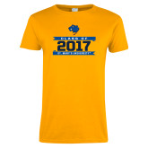 Ladies Gold T Shirt-Class Of - Banners, Personalized year