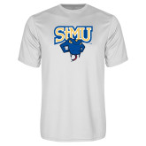 Performance White Tee-StMU with Rattler