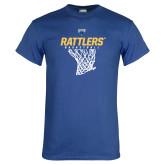 Royal T Shirt-Rattlers Basketball Hanging Net