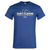 Royal T Shirt-Rattlers Volleyball Half Ball