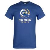 Royal T Shirt-Rattlers Tennis Abstract Ball