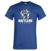 Royal T Shirt-Rattlers Soccer Geometric Ball