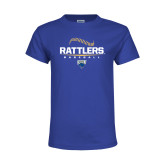 Youth Royal T Shirt-Rattlers Baseball Half Ball