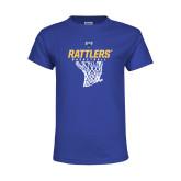 Youth Royal T Shirt-Rattlers Basketball Hanging Net