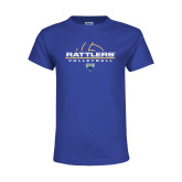Youth Royal T Shirt-Rattlers Volleyball Half Ball