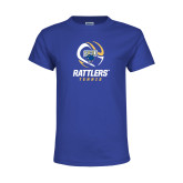 Youth Royal T Shirt-Rattlers Tennis Abstract Ball