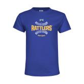 Youth Royal T Shirt-Rattlers Softball Seams