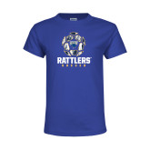 Youth Royal T Shirt-Rattlers Soccer Geometric Ball