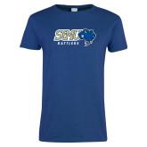 Ladies Royal T Shirt-Slanted STMU Rattlers with Rattler