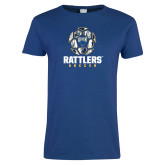 Ladies Royal T Shirt-Rattlers Soccer Geometric Ball