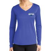 Ladies Syntrel Performance Royal Longsleeve Shirt-Primary Logo