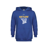 Youth Royal Fleece Hoodie-Rattlers Basketball Hanging Net