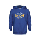 Youth Royal Fleece Hoodie-Rattlers Softball Seams