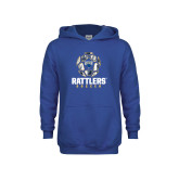 Youth Royal Fleece Hoodie-Rattlers Soccer Geometric Ball