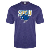 Performance Royal Heather Contender Tee-StMU with Rattler