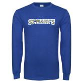 Royal Long Sleeve T Shirt-St. Marys Word Mark