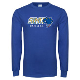 Royal Long Sleeve T Shirt-Slanted STMU Rattlers with Rattler