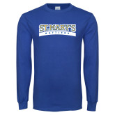 Royal Long Sleeve T Shirt-Arched St. Marys Rattlers