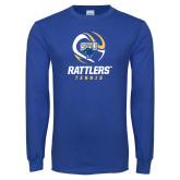 Royal Long Sleeve T Shirt-Rattlers Tennis Abstract Ball