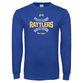 Royal Long Sleeve T Shirt-Rattlers Softball Seams