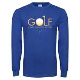 Royal Long Sleeve T Shirt-St. Marys Gold Stacked