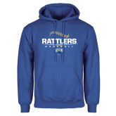 Royal Fleece Hoodie-Rattlers Baseball Half Ball