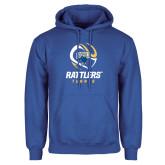 Royal Fleece Hoodie-Rattlers Tennis Abstract Ball