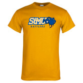 Gold T Shirt-Slanted STMU Rattlers with Rattler