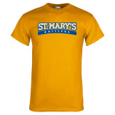 Gold T Shirt-Arched St. Marys Rattlers
