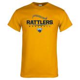 Gold T Shirt-Rattlers Baseball Half Ball