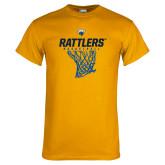 Gold T Shirt-Rattlers Basketball Hanging Net