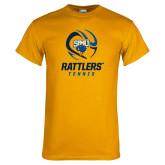 Gold T Shirt-Rattlers Tennis Abstract Ball