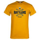Gold T Shirt-Rattlers Softball Seams
